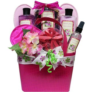 Art-of-Appreciation-Tickled-Pink-Sweet-Pea-Spa-Bath-and-Body-Gift-Basket-Set-P16146579
