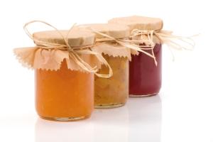 Three Jam jar isolated