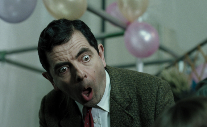 mr bean suprised